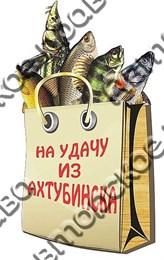 """Магнит """"Пакет с рыбой"""" г.Ахтубинск 01"""