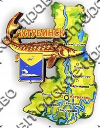 Магнит карта 2-х слойная г.Ахтубинск 01