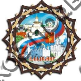 Тарелка панно 150 мм, форма 2, картинка 1, г.Владимир