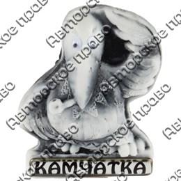 Магнит из мармолита Кутх с трубкой и глазками Камчатка арт 25237