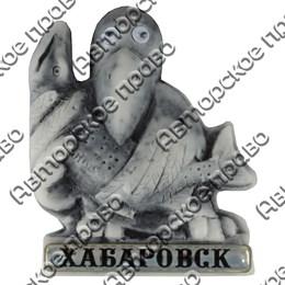 Магнит из мармалита Кутх с рыбой и глазками Хабаровск арт 25239