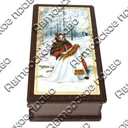"""Купюрница с покрытием-смола """"Красавицы"""" №3 венге арт 25500"""