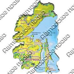 Магнит 1-слойный Карта Вашего края, региона или области