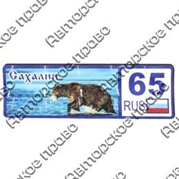 "Магнит 1-слойный ""Номер региона"" Сахалин"