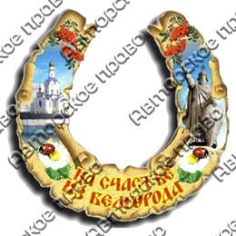 """Магнит 1-слойный """"Подкова"""" №1 Белгород"""