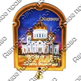 Магнитик 2-хслойный Арка с колокольчиком с символикой Вашего города