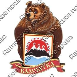 Магнитик 2-хслойный Медведь с гербом с символикой Вашего города