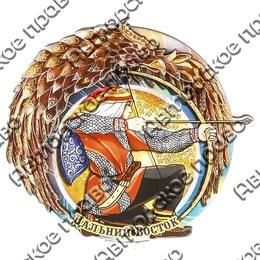 Магнитик 2-хслойный Лучник с символикой Вашего города