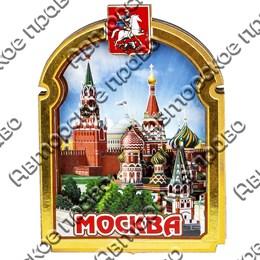 Магнитик 2-хслойный Рамка с аркой с символикой Вашего города