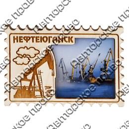 """Магнит с гравировкой """"Марка"""" №1 с символикой Вашего города"""