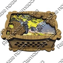 Шкатулка малая резная с видами, достопримечательностями или символикой Вашего города