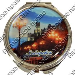Зеркало серебро с видами Вашего города