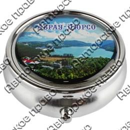 Таблетница круглая серебро с видами Вашего города