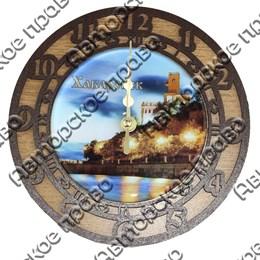 Часы 2-хслойные с видами Вашего города