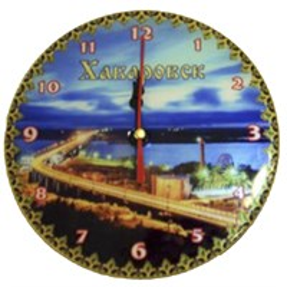 Часы 1-слойные вид 1 с видами Вашего города