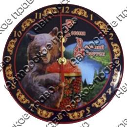 Часы 1-слойные вид 2 с символами Вашего города