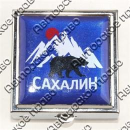 Таблетница квадратная серебро с символами Вашего города