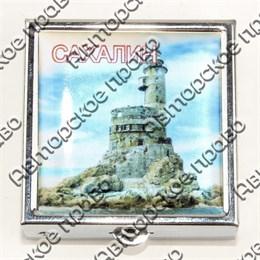 Таблетница квадратная серебро с достопримечательностями Вашего города