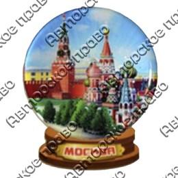 Купить магнитик из полимерной смолы Снежный шар с видами города