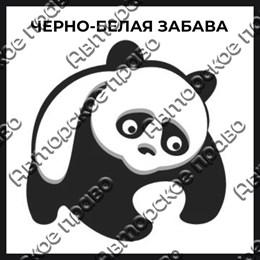Магнит черно-белый с подвижными глазками Панда вид 6