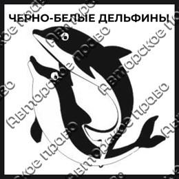 Магнит черно-белый с подвижными глазками Дельфинчик вид 1