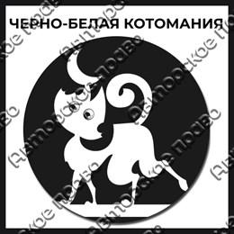 Магнит черно-белый с подвижными глазками Котейки вид 13