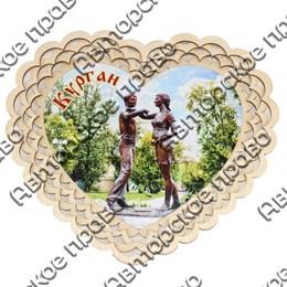 Тарелка-панно 15 см вид 5 с символикой Вашего города