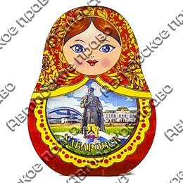 Шкатулка фигурная Матрешка вид 2 с покрытием оракал с символикой Вашего города