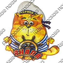 Шкатулка фигурная Кот с покрытием оракал с символикой Вашего города