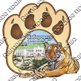 Магнит 2-хслойный Лапа тигра с видами Вашего города вид 1