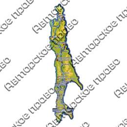 Магнит 1 слойный 26х7см. Остров Сахалин вид 1