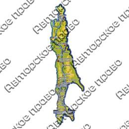 Магнит 1 слойный 10х39 см. Остров Сахалин вид 1