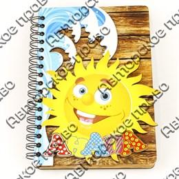 Блокнот цветной Солнышко с символикой Вашего города 50 листов