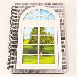 Блокнот А6 цветной Окно 50 листов