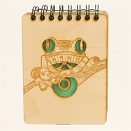Магнит - блокнот А7 с гравировкой Лягушка 50 листов