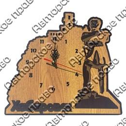 Часы 2-хслойные дерево Достопримечательности Вашего города