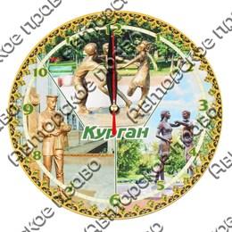 Часы - панно круглые 20см вид 1 с видами, достопримечательностями или символикой Вашего города
