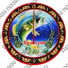 Часы - панно круглые 20см вид 2 с видами, достопримечательностями или символикой Вашего города