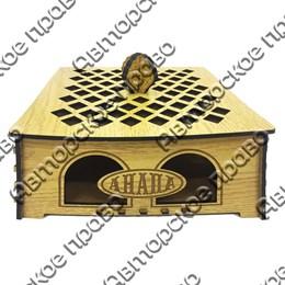Коробка для подарков с гравировкой вид 8 с символикой вашего города