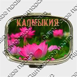 Таблетница прямоугольная с символами Калмыкии