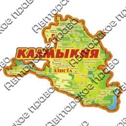Магнит 1-слойный карта Калмыкии