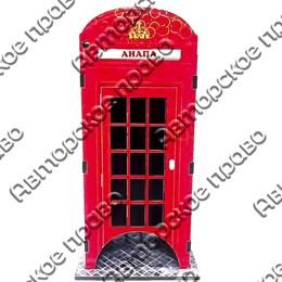 Чайный домик цветной Телефонная будка с символикой Вашего города