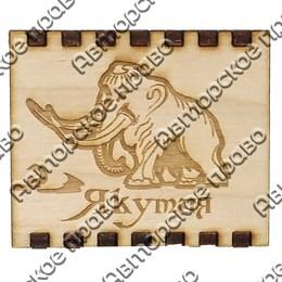 Спички с гравировкой Мамонт с символикой Якутии