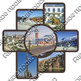 Панно Коллаж с достопримечательностями Якутска