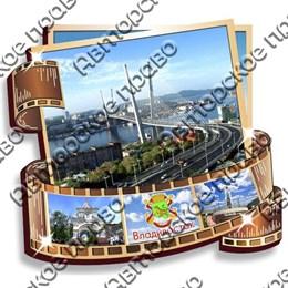 магнит фотопленка с видами и достопримечательностями Владивостока