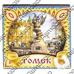 Магнитик 2-хслойный Жар-птица с достопримечательностями Томска