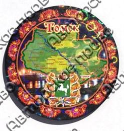 Магнит-тарелочка с картой и символикой Томска