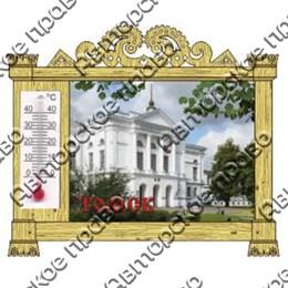 Магнит Резная рамка с термометром и достопримечательностями Томска