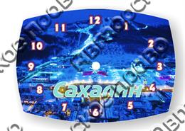 Часы с покрытием из эпоксидной смолы Сахалин