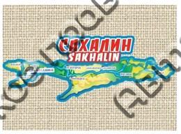 Магнит на мешковине Медведь с картой и символикой Вашего города